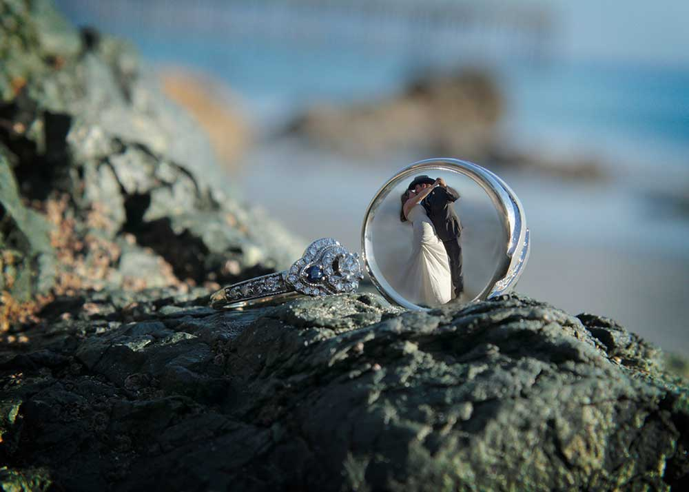 dip and ring coastal wedding
