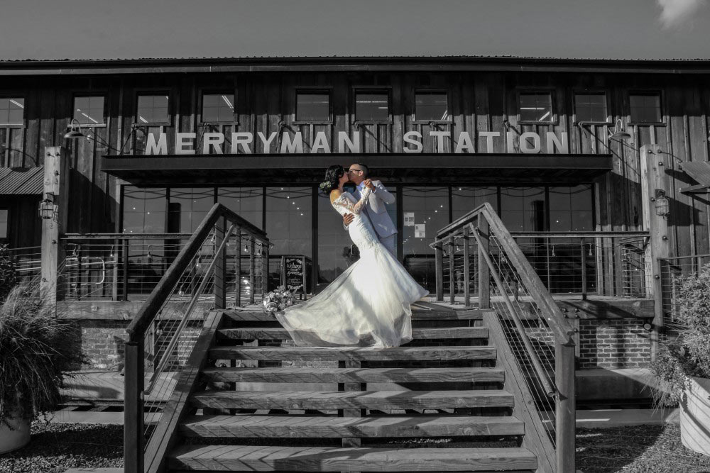 a dip and kiss at merryman station