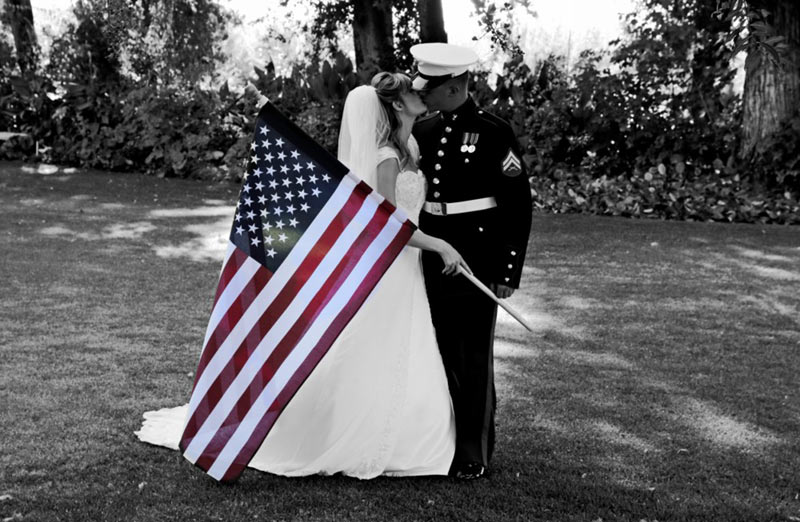kiss and the flag