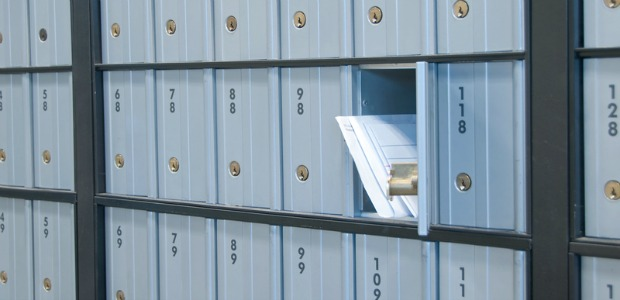 Photo of PO box at a Post Office