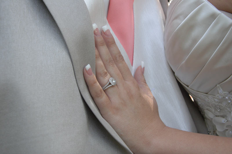 her ring his tux