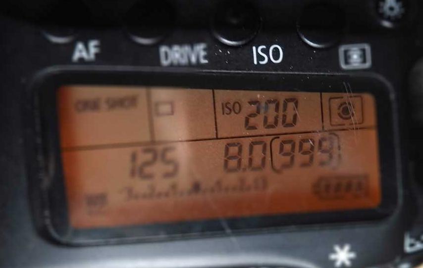 ISO setting on canon camera